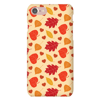 Autumn Leaves and Hearts Pattern