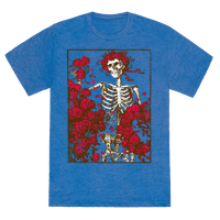 Flowers And A Skeleton (Vintage Shirt)