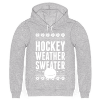 Hockey Weather Sweater (White Ink)