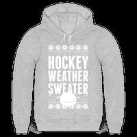 Hockey Weather Sweater (White Ink)