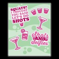 Party Shots Sticker
