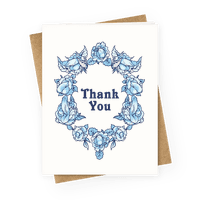 Thank You Floral Penis Greetingcard