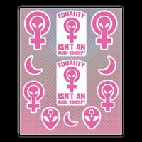Alien Feminist Sticker