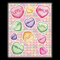 Kawaii Emoji Conversation Heart