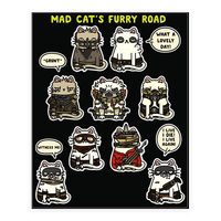 Mad Cats Furry Road Stickers 2