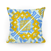 Blue and Yellow Aztec Pattern