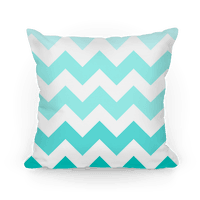 Chevron Pillow (Diamond Blue)
