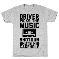 Driver Picks the Music Shotgun Shuts His Cakehole