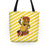 Let's Get Messy Corndog Tote Bag