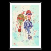 Watercolor Balloon Trip