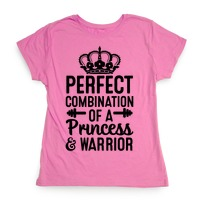 024f8975 Perfect Combination of a Princess & Warrior Tank Top   LookHUMAN