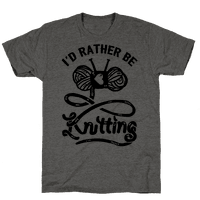 I'd Rather Be Knitting Tee
