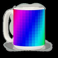 Rainbow Pixel Mug