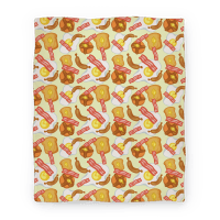 Breakfast Food Pattern Blanket Blanket