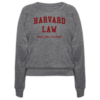 Harvard Law What Like It's Hard?