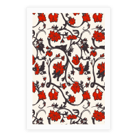 Little Red Riding Hood & Wolf Floral Pattern