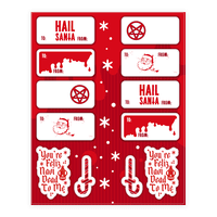 Hail Santa Gift Tag Sticker