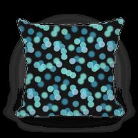 Blue Glitter Bokeh Pattern