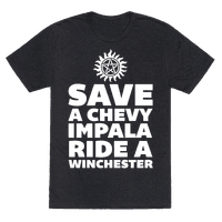 Save a Chevy Impala, Ride a Winchester Tee