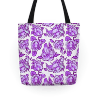 Floral Penis Pattern Purple