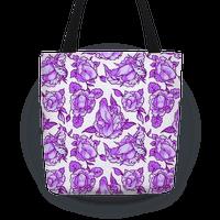 Floral Penis Pattern Purple