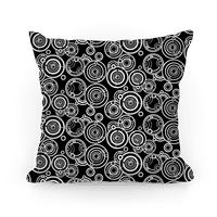 Black and White Gallifreyan Writing Pattern