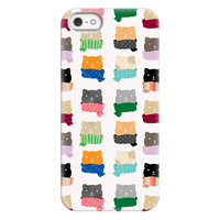 Cats In Scarfs Pattern Phonecase