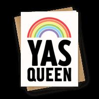 Yas Queen Rainbow Pride Greetingcard