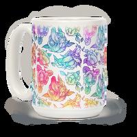 Floral Penis Rainbow Mug
