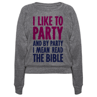 I Like To Party And By Party I Mean Read The Bible