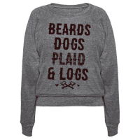 Beards Dogs Plaid and Logs