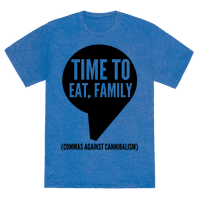 Time to Eat, Family Commas Against Cannibalism