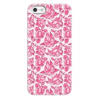 Floral Penis Pattern Pink Phonecase