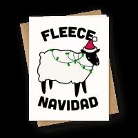 Fleece Navidad Greetingcard