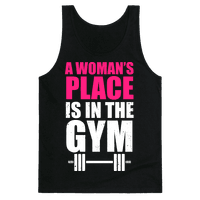 A Woman's Place Is In The Gym (White Ink)