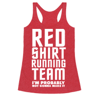 Red Shirt Running Team Racerback