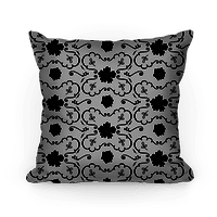 Black and White Floral Wallpaper Pattern