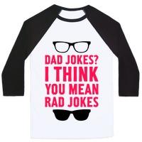 538c5455 I Think You Mean Rad Jokes V-Neck Tee | LookHUMAN