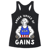 Amber Waves Of Gains Racerback