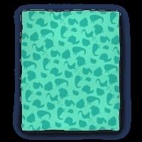 Birdie Pattern Blanket (Mint)
