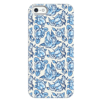 Floral Penis Pattern Blue Phonecase
