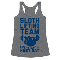 Sloth Lifting Team Racerback