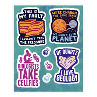 Science Puns Sticker