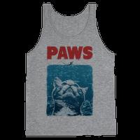 PAWS (Jaws Parody tee) Tank