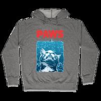 PAWS (Jaws Parody tee) Hoodie
