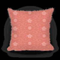Coral Floral Wallpaper Pattern