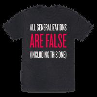 All Generalizations Are False