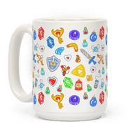 Zelda Items Pattern Mug