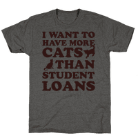 I Want More Cats Than Student Loans Tee