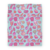 Cute Foods Blanket